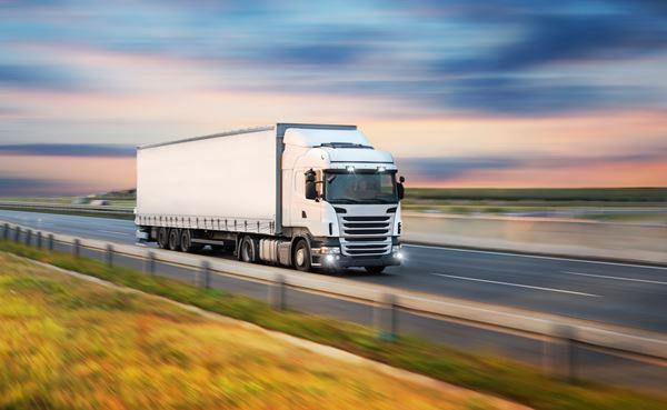 LKW transportiert Möbel beim internationalen Umzug