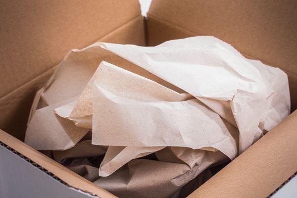 Seidenpaper als Polstermaterial im Umzugskarton